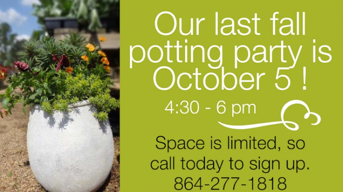 last fall potting party sm