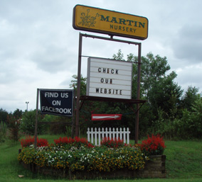 Mauldin Road Entrance to Martin Nursery